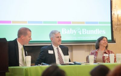 Distinguished Panel Addresses Baby Bundles Coffee Attendees